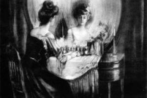 ¿Una mujer frente al espejo o una calavera? Foto:Twitter. Imagen Por: