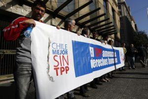Protesta en contra del TTP Foto:Agencia Uno. Imagen Por:
