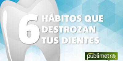 Infografía: 6 hábitos que destrozan tus dientes