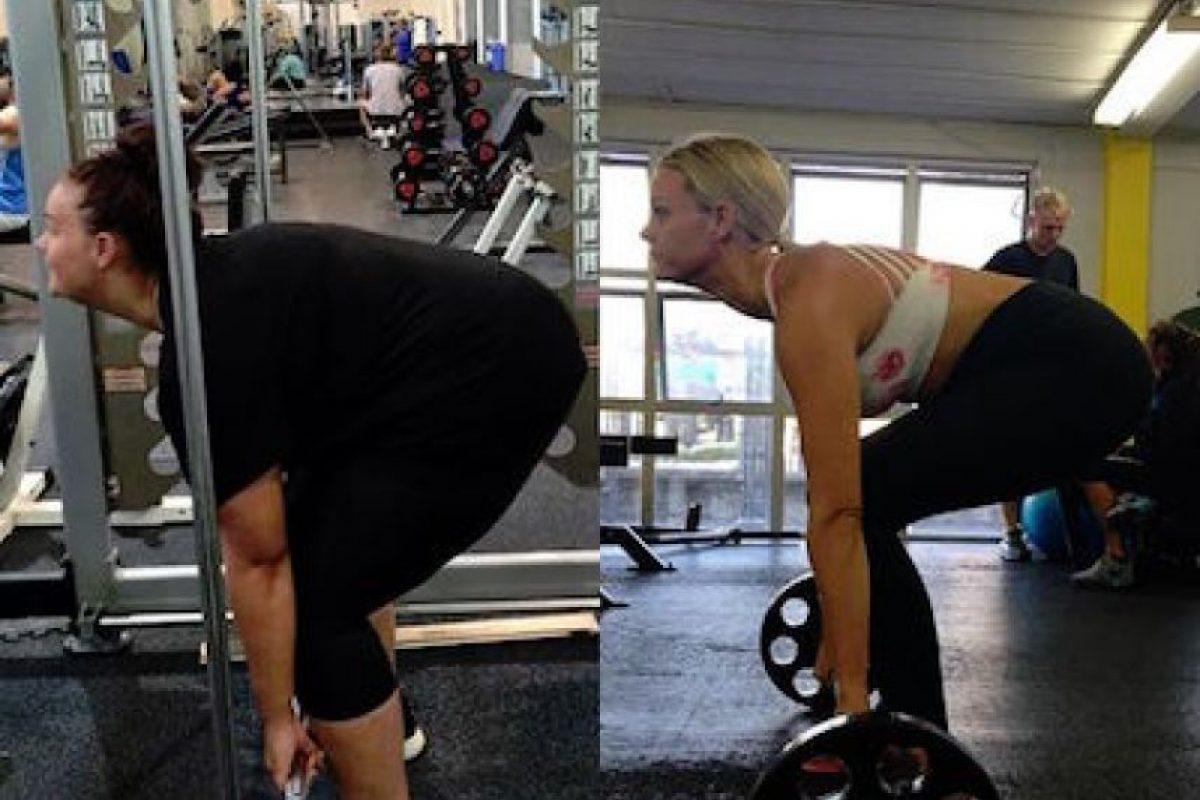Hacer ejercicio de manera regular en el gimnasio Foto:Instagram.com/simone_anderson. Imagen Por: