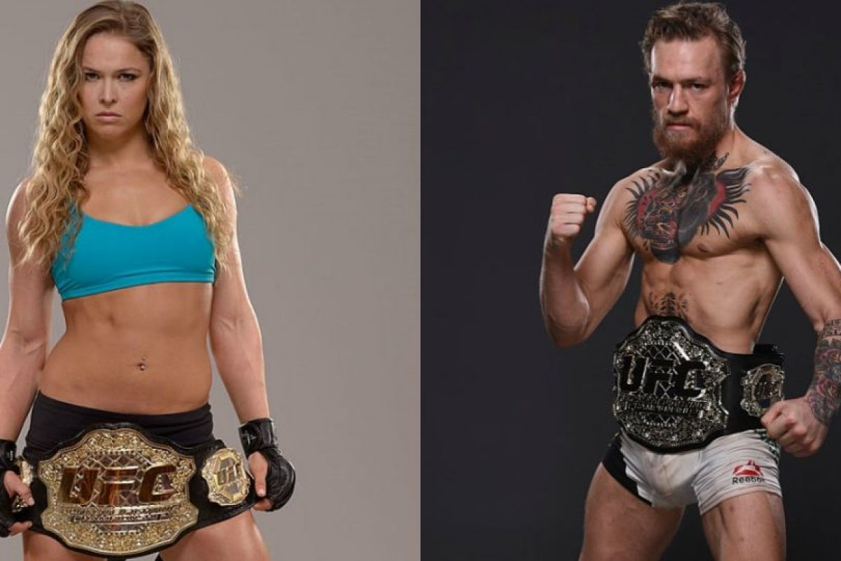 Ronda Rousey y Conor McGregor son los luchadores más famosos de la UFC. Foto:Getty Images. Imagen Por: