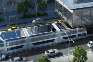 Así luciría el bus del futuro Foto:China TBS. Imagen Por:
