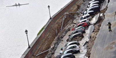 Doscientos metros de calle se hunden cerca del Ponte Vecchio de Florencia