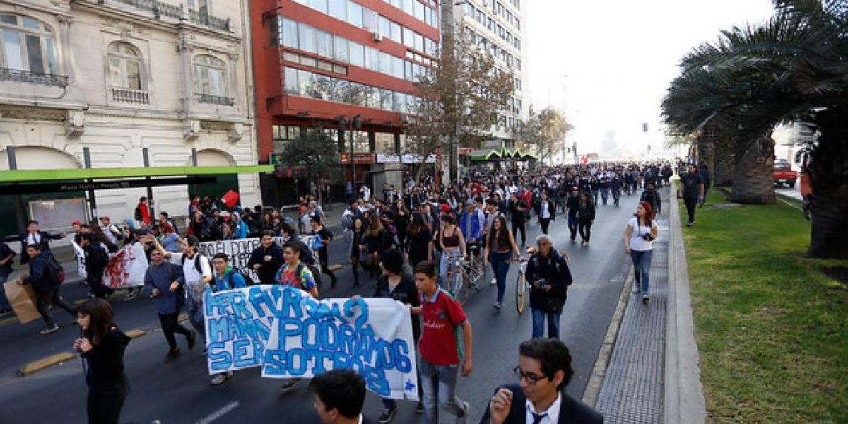 Orrego y marcha de estudiantes: