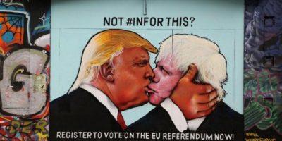 Trump y Boris Johnson se besan en un mural pro-UE