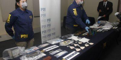 Operativos de la PDI desbaratan bandas dedicadas al tráfico de drogas en la RM