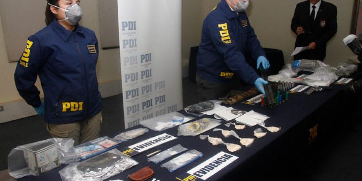 PDI desbarata bandas de narcotraficantes y de ladrones de vehículos en Santiago