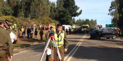 Accidente múltiple en La Araucanía deja al menos cinco víctimas fatales
