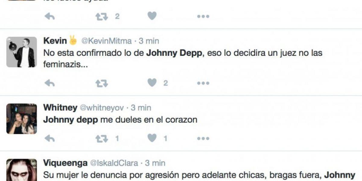 Redes sociales divididas por acusación de violencia contra Johnny Depp
