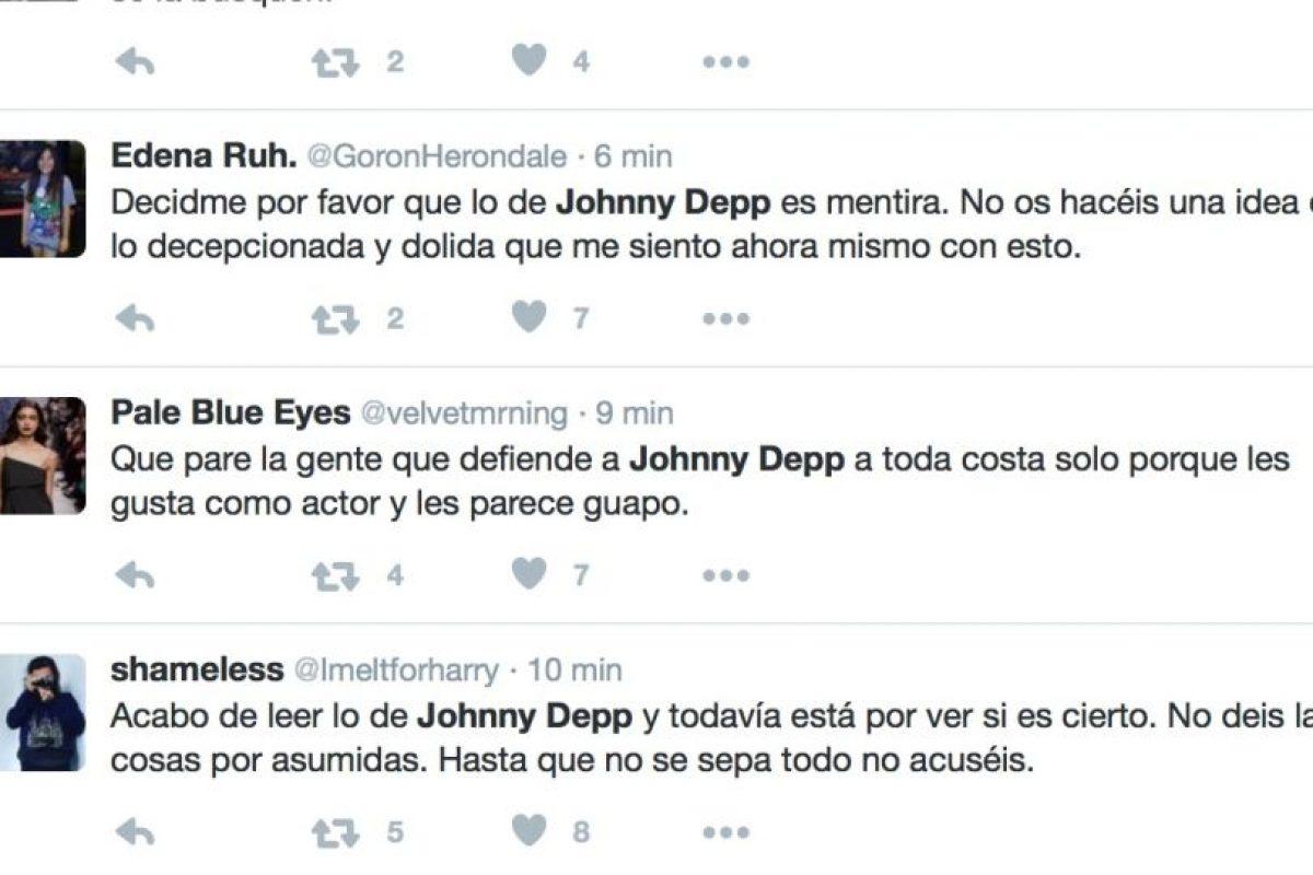 Reacciones en Twitter respecto a las acusaciones de Heard. Imagen Por: