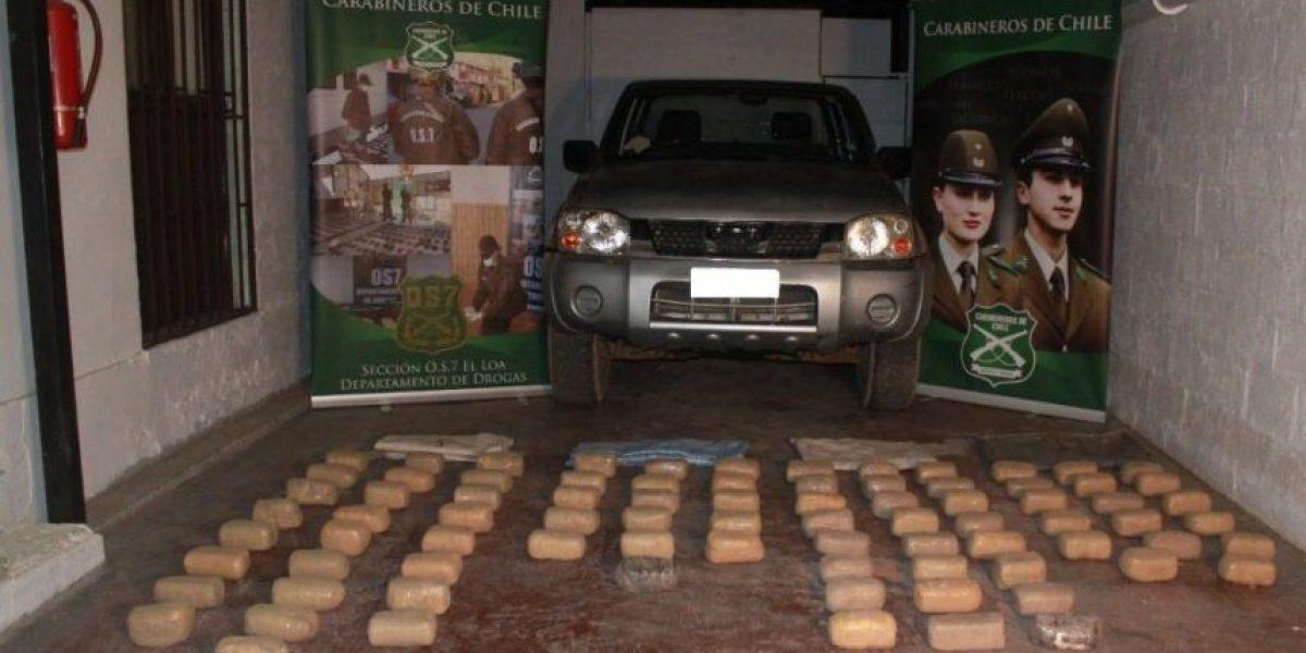 OS7 decomisa 425 mil dosis de droga en pleno Desierto de Atacama