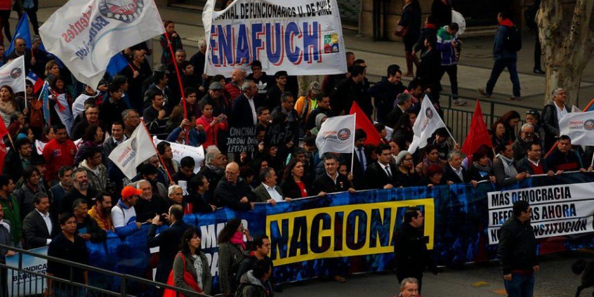 Marcha de la CUT: movilización llega hasta el escenario final sin incidentes