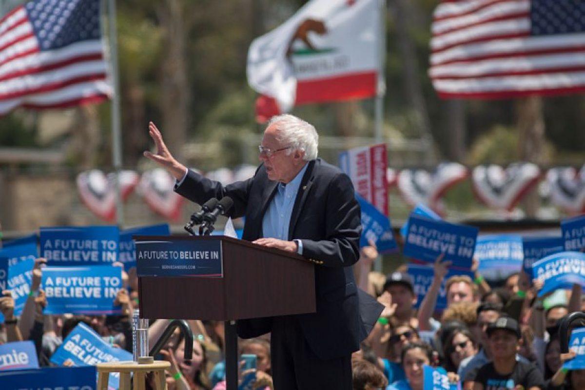 El senador de Vermont, Bernie Sanders solamente cuenta con mil 539 delegados. Foto:Getty Images. Imagen Por: