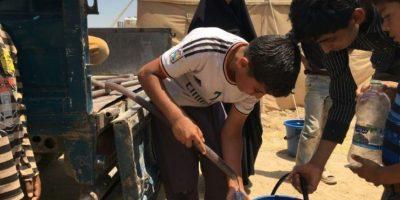 Al menos 20.000 niños están bloqueados en Faluya