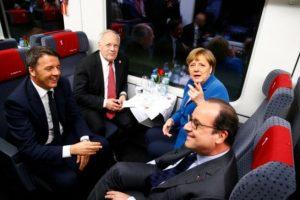 A la inauguración estuvieron invitados, la canciller de Alemania, Angela Merkel, el primer ministro italiano Matteo Renzi, el presidente de Francia, Francois Hollande y por supuesto el jefe de estado suizo Johann Schneider-Ammann Foto:AFP. Imagen Por: