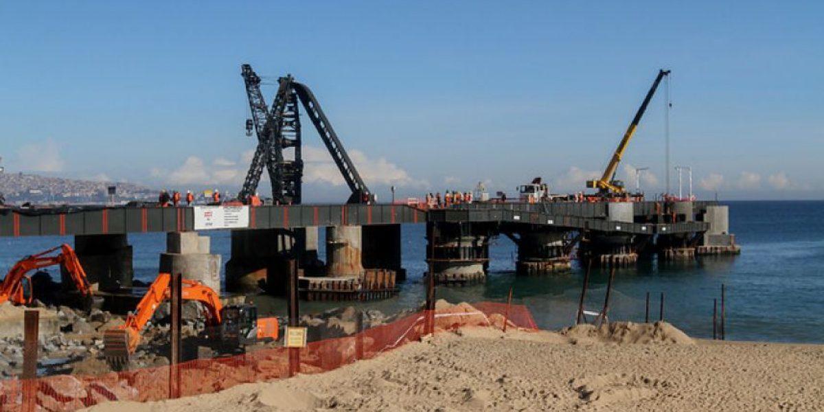Viña del Mar: recuperación del Muelle Vergara presenta 75% de avance