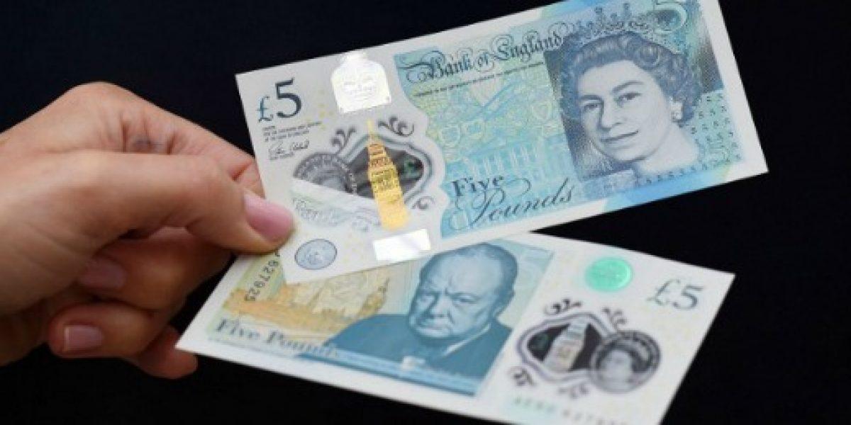 Ahora los billetes de Inglaterra serán de plástico