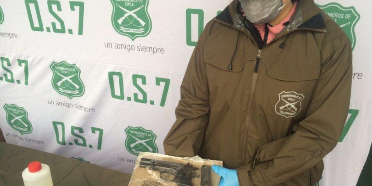 Carabineros desarticula banda de narcotraficantes que operaba en Santiago Centro
