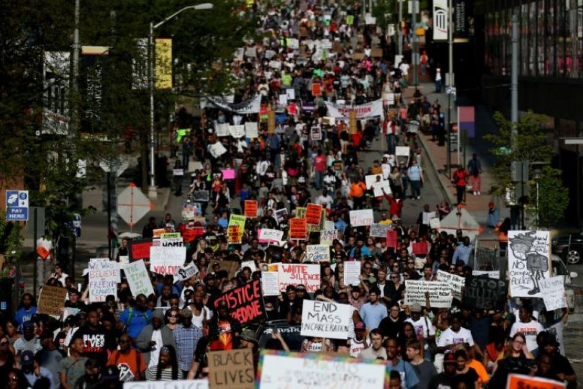 Su muerte ocasionó disturbios en Baltimore, Maryland y otras partes de Estados Unidos. Foto:Getty Images. Imagen Por: