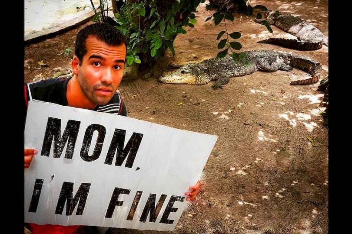 """Pero como su madre se preocupa el siempre le envía un mensaje que dice """"Mamá, estoy bien"""". Foto:Instagram Momimfine. Imagen Por:"""