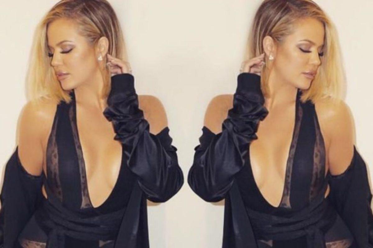 Khloe Kardashian pesa 74 kgs (163 libras) y mide 1,77 mts (5,9 ft). La critican por su rostro. Foto:vía Instagram. Imagen Por:
