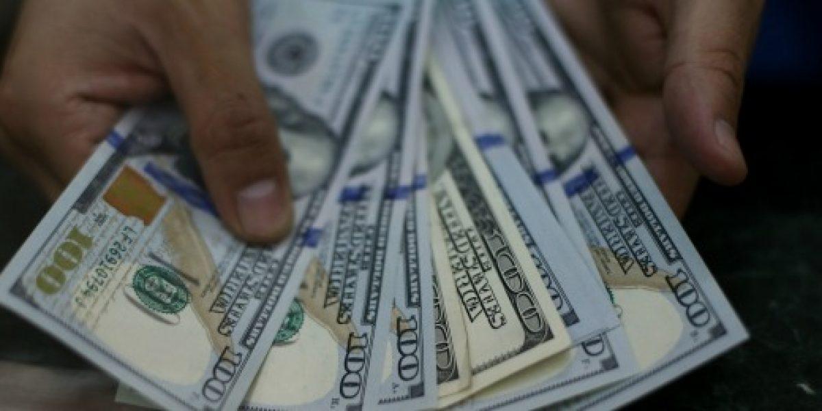 Dólar cierra bajo los 680 pesos