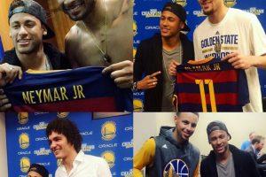 No todo es fútbol en la vida de Neymar y también fue a disfrutar del segundo partido de la final entre Golden State Warriors y Cleveland Cavaliers Foto:Instagram Golden State Warriors. Imagen Por: