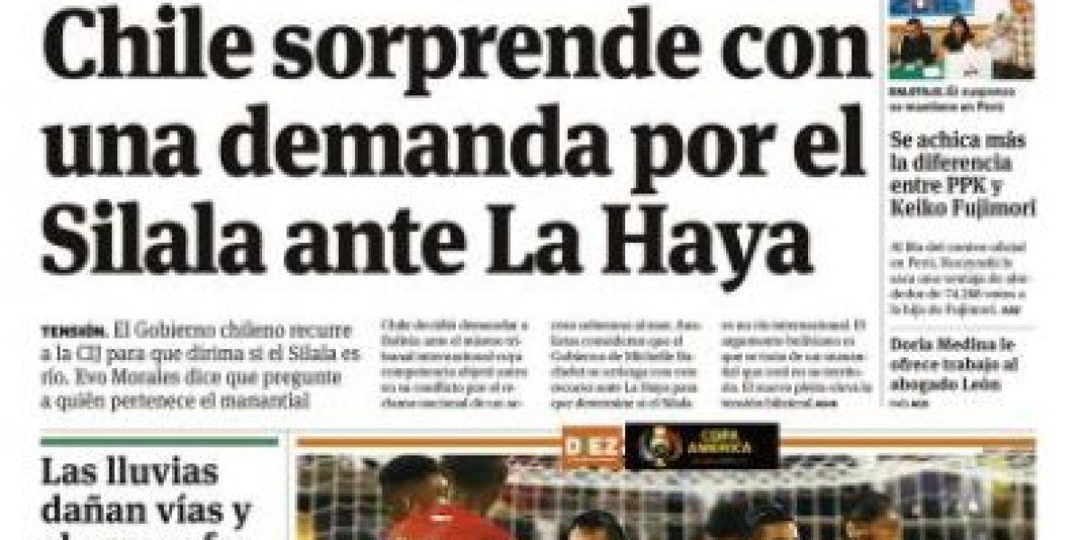 Así destacó la prensa boliviana la demanda de Chile ante La Haya por el uso del Silala