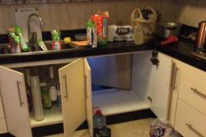"""El lugar de la cocina que mantenía la """"puerta oculta"""" para acceder al sitio. Foto:Gentileza. Imagen Por:"""