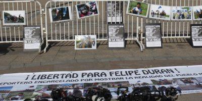 Reporteros gráficos exigen libertad de fotógrafo preso en Temuco