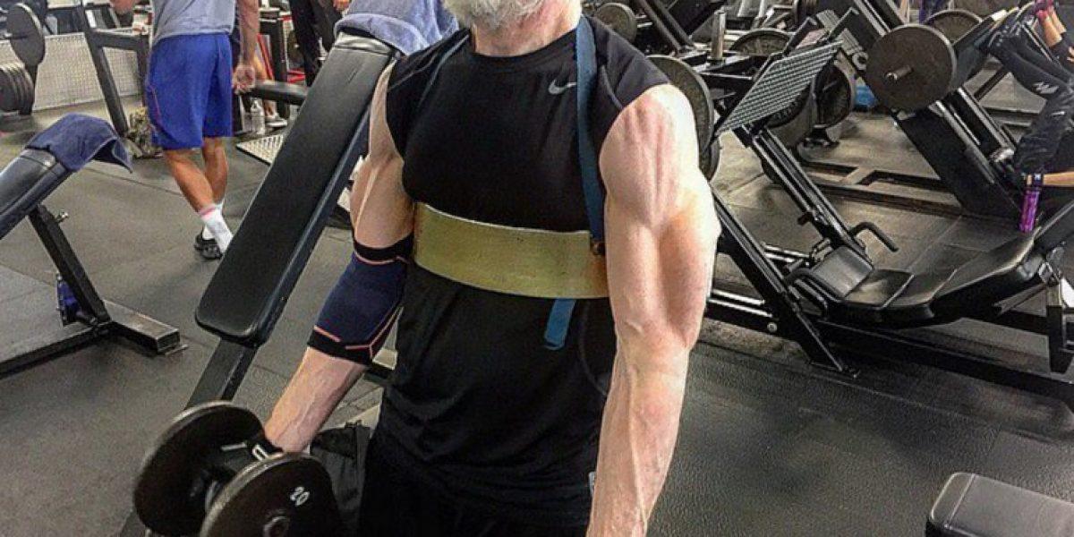 [Fotos] J.K. Simmons entrena sus músculos para