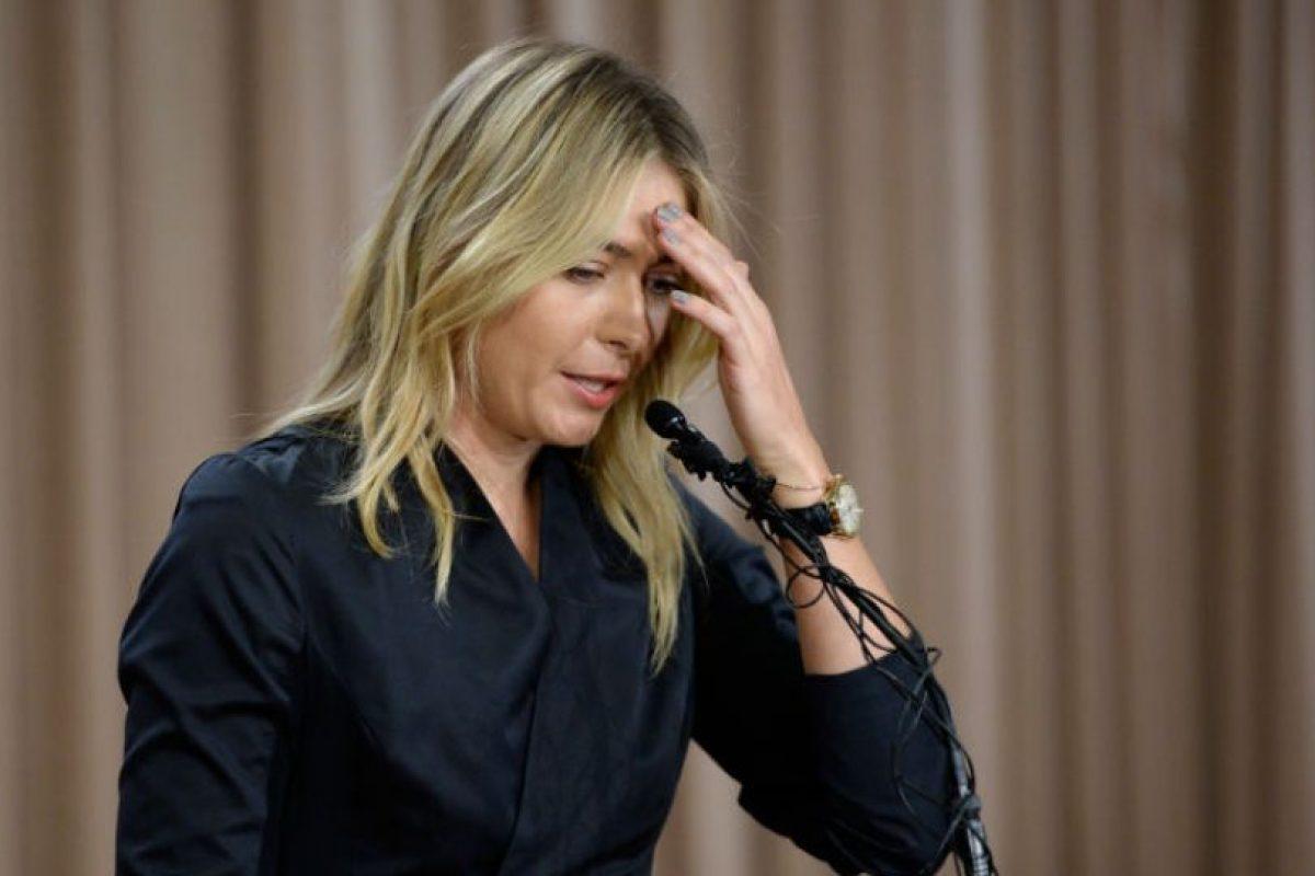 Maria Sharapova fue suspendida dos años por dar positivo de meldonium Foto:Getty Images. Imagen Por: