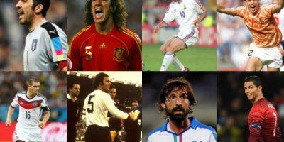 Puros crack: El once ideal histórico de la Eurocopa