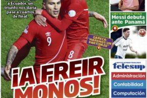 La ofensiva portada de un diario peruano en la previa del partido ante Ecuador Foto:Diario Sport de Perú. Imagen Por: