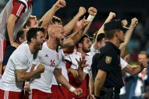Así celebró Geogia su triunfo histórico sobre España, bicampeón de Europa Foto:Getty Images. Imagen Por: