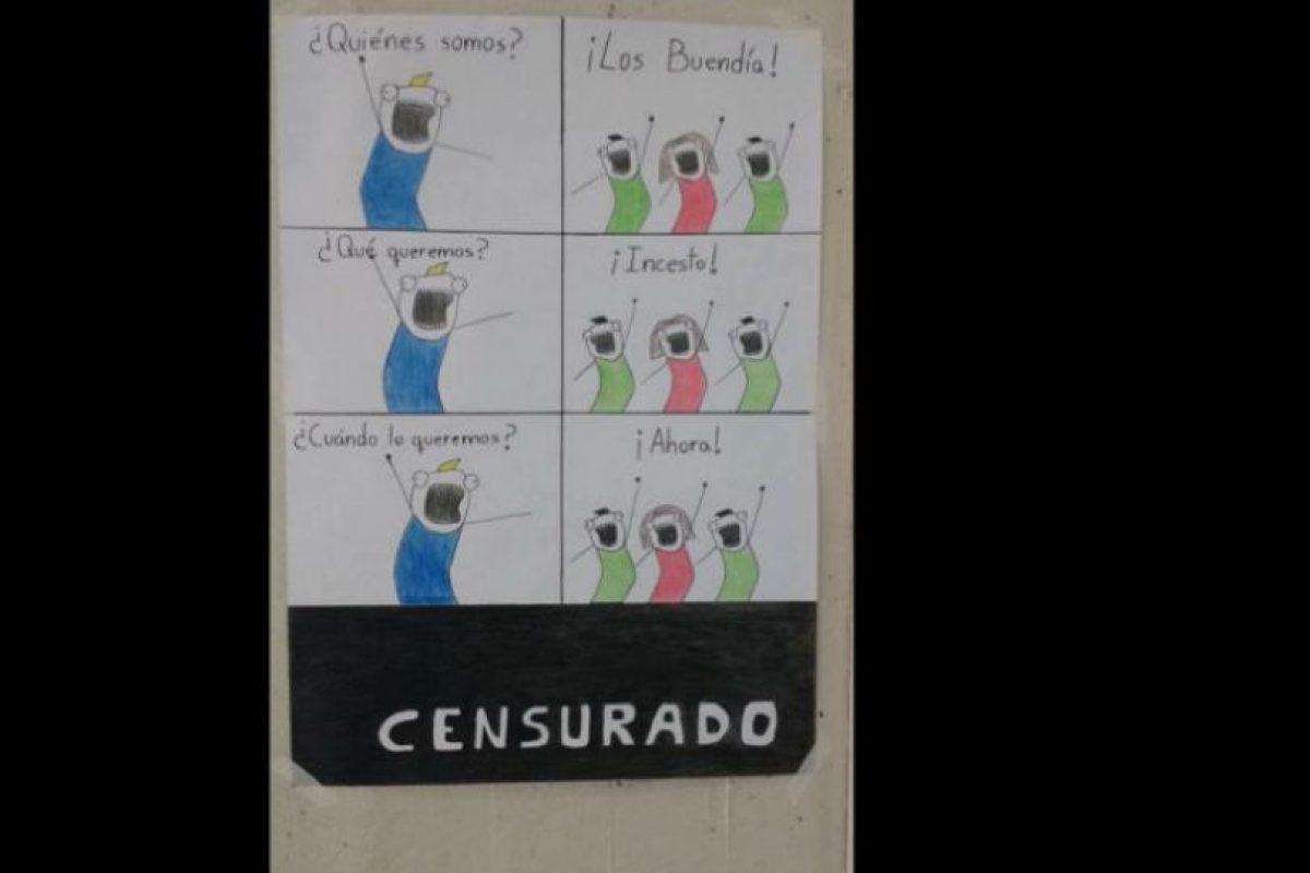 Acá se mofan del incesto, tema recurrente en la telenovela. Foto:vía Facebook/JackieBreuma. Imagen Por: