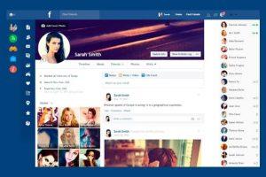 Vuelvan más minimalista su Facebook. Foto:Flatbook. Imagen Por: