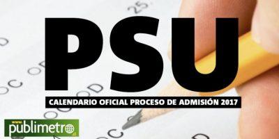 PSU: estas son las nuevas fechas del calendario del proceso de admisión 2017