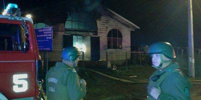 Prisión preventiva para detenidos acusados de quemar templo evangélico en La Araucanía