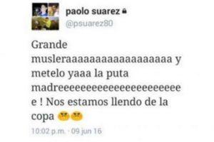 El hermano de Luis Suárez, Paolo, explotó en Twitter al ver a su hermano en la banca Foto:Captura de pantalla. Imagen Por: