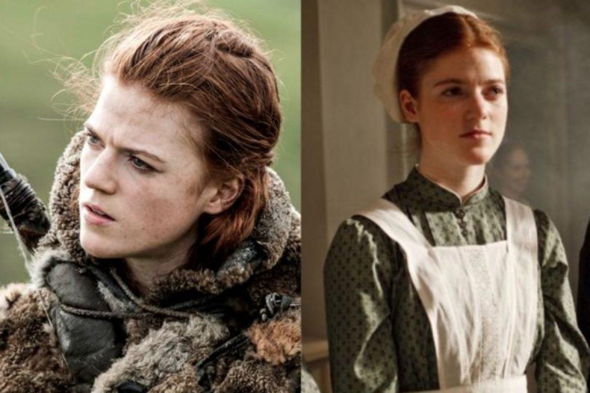 "Rose Leslie, la famosa ""Ygritte"" y novia de Kit Harington, estuvo en ""Dowtown Abbey"". Foto:HBO/ITV. Imagen Por:"