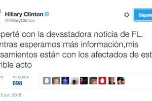 Así reaccionó Hillary Clinton Foto:Twitter. Imagen Por: