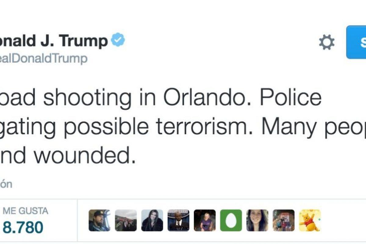 La reacción de Donald Trump en Twitter Foto:Twitter. Imagen Por: