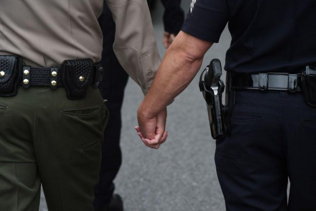 Y demostrar que el amor gana ante la homofobia Foto:AFP. Imagen Por: