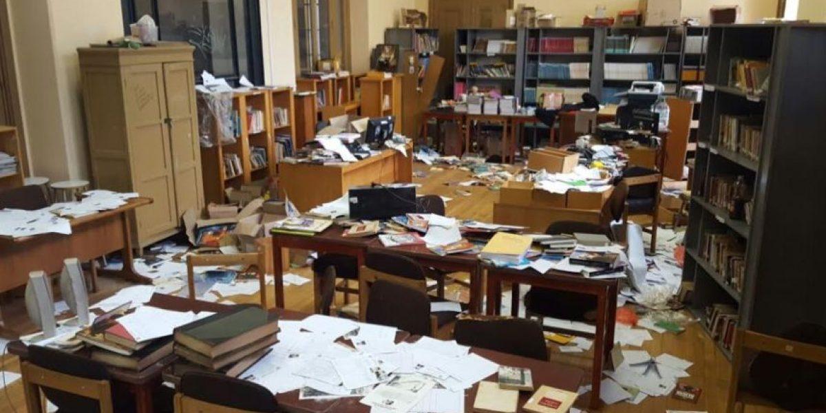 Fotos: estos son los graves daños que dejó la toma de estudiantes del Inba