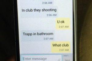 """""""Mami, te amo. Hay un tiroteo en el bar"""", escribió Eddie Justice minutos después de que inició el tiroteo Foto:AP. Imagen Por:"""