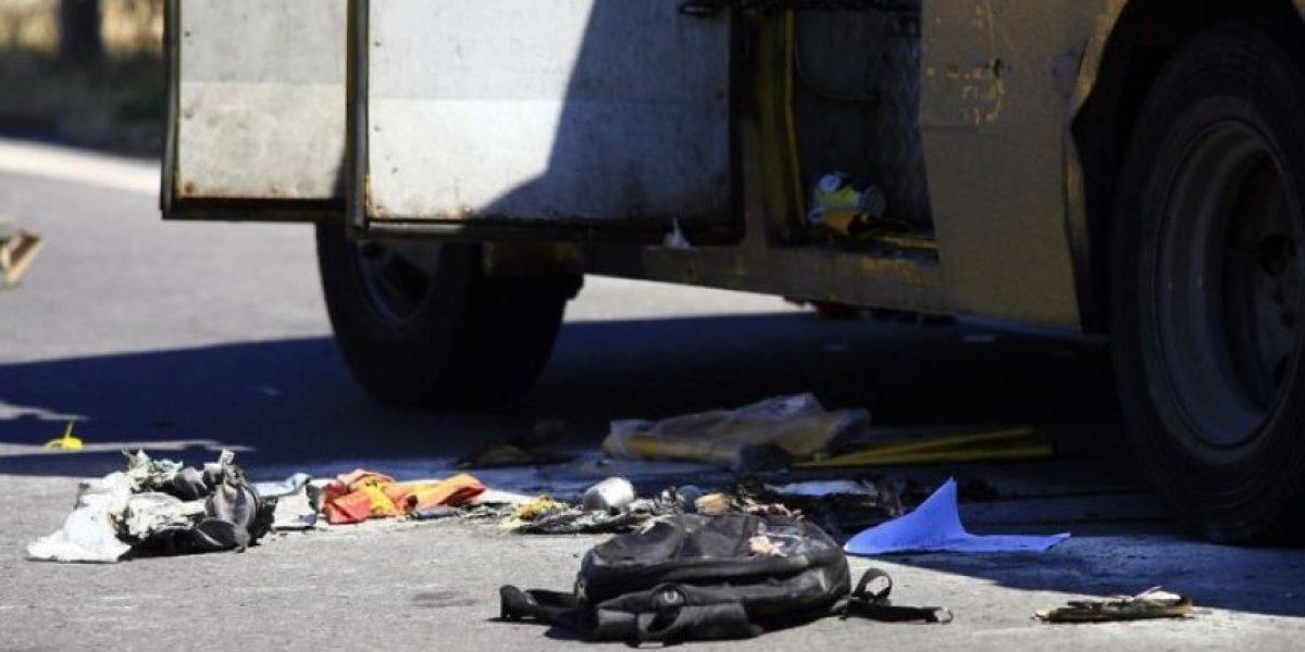 Fuerte explosión en Valparaíso tras incendio de dos camiones mezcladores de cemento