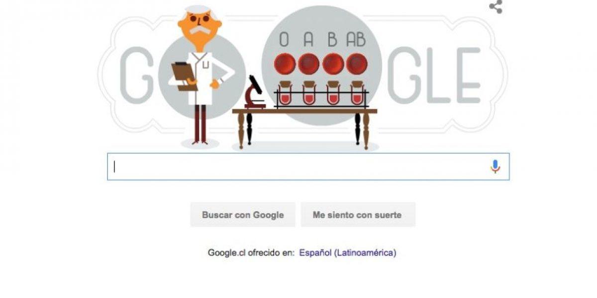 Con este doodle Google rinde tributo al biólogo que descubrió los grupos sanguíneos