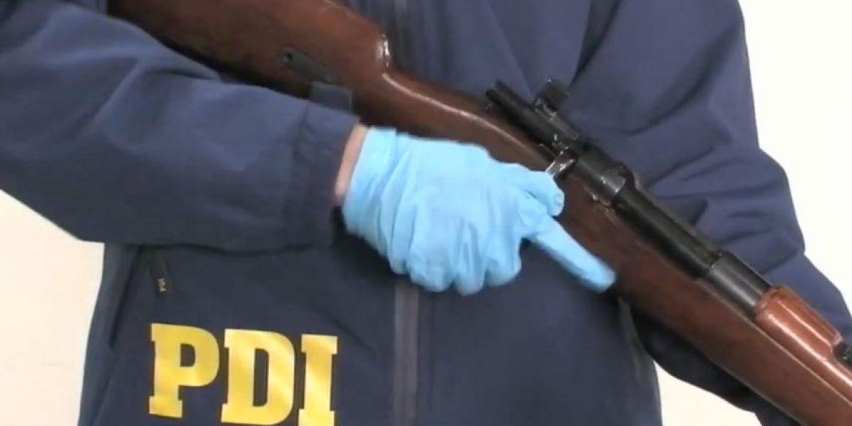 Operativo PDI en la Población La Legua localizó fusil de uso militar