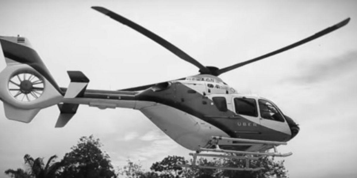 Uber ahora vuela: ofrece servicio de traslado en helicóptero